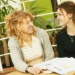 Two Students Together — Stock Photo