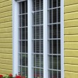 Window Exterior And Window Box — Stock Photo