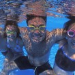 Family Group In Swimming Pool — Stock Photo