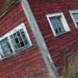Stock Photo: A Red Barn With Windows