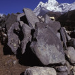 Stock Photo: Pile Of Boulders And Rocks In Front Of Mountain
