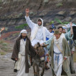 Stok fotoğraf: Jesus Journey On The Donkey