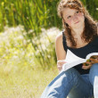 Student Reading — Stock Photo