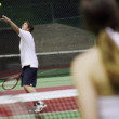 A Couple Playing Tennis — Stock Photo