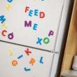 Stock Photo: Letters Stuck On Fridge