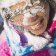 Stock Photo: Snow In Face