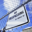 No Trespassing Sign — Stock Photo #31616055