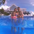 Family Picture In A Pool — Stock Photo