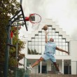 Man Plays Basketball — Foto de Stock