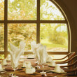 Stock Photo: Inside Fine Dining Room