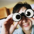 Stock Photo: Goofy Binoculars
