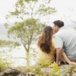 Foto Stock: Couple Kiss