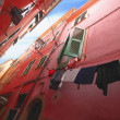 Looking Up At Apartments Vernazza Cinque Terre Italy — Stock Photo