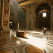 Interior Of St. Peter's Basilica Vatican City Rome Italy — Stock Photo