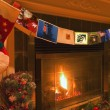 Stock Photo: Traditional Christmas Fireplace