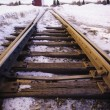 Railway Tracks In Winter — Stock Photo