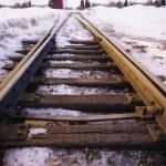 Railway Tracks In Winter — Stock Photo