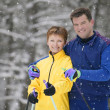 Portrait Of A Couple With Skis — Stock Photo
