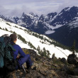 Mountaineer Taking In View — Stock Photo #31619175