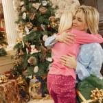 A Christmas Morning Hug — Stock Photo