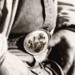 Stock Photo: Cowboy Belt Buckle