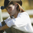 Portrait Of A Cowgirl — Stock Photo #31619953