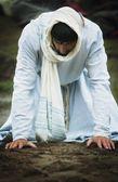 Jesus Prays — Stock Photo
