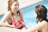Two Girls In A Pool — Stock Photo