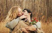 Couple kissing — Stock Photo