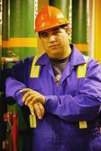 Man With Safety Helmet — Stock Photo