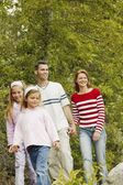 Family Goes For A Walk — Stock Photo
