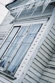 Icicles Over A Window — Stock Photo