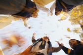 Group Of Students Reaching For Sky — Stock Photo