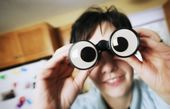 Goofy Binoculars — Stock Photo
