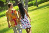 Couple Walking — Stock Photo