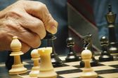 Playing A Game Of Chess — Stock Photo