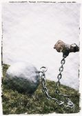 A Ball And Chain — Stock Photo