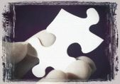A Blank Puzzle Piece — Stock Photo