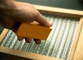 Washboard And Soap — Stock Photo