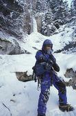 登山者遇到寒冷 — 图库照片