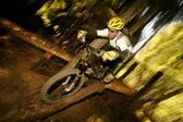 A Mountain Biker — Stock Photo