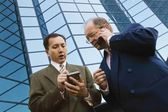 Businessmen Outside Office Building — Stock Photo