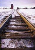 Railway Tracks In Winter — Foto Stock