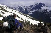 Mountaineer Taking In The View — Foto Stock