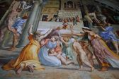 Looking Up At Ceiling In The Vatican Museum Vatican City Rome Italy — Stock Photo