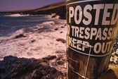 No Trespassing On The Beach — Stockfoto