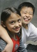Two Children Having A Giggle — Photo
