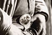 Cowboy Belt Buckle — Stock Photo