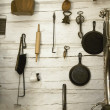 Collection Of Old-Fashioned Kitchen Utensils And Implements — Stock Photo #31620737