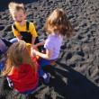 Children Playing On The Sand — Stock Photo